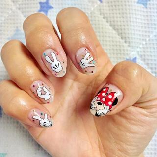 ディズニー(Disney)のネイルチップ ミニーちゃんネイル(つけ爪/ネイルチップ)