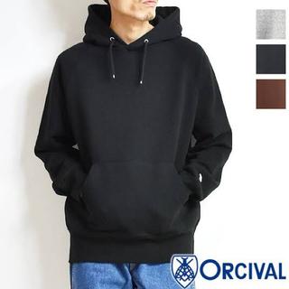 オーシバル(ORCIVAL)のORCIVAL  プルオーバーパーカー ブラック (パーカー)