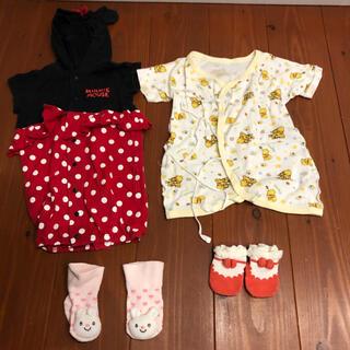 ディズニー(Disney)のディズニー DISNEY baby ロンパース 肌着 靴下 セット ベビー服(ロンパース)