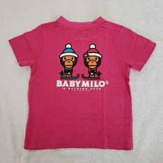アベイシングエイプ(A BATHING APE)のBAPE KIDS ⭐️ Tシャツ ピンク 90(Tシャツ/カットソー)