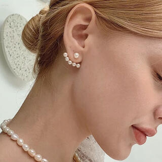 DEUXIEME CLASSE - 2way pearl ear jacket pierce ◯s925 post