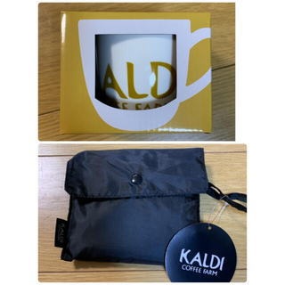 カルディ(KALDI)のカルディ マグカップとエコバッグ(グラス/カップ)