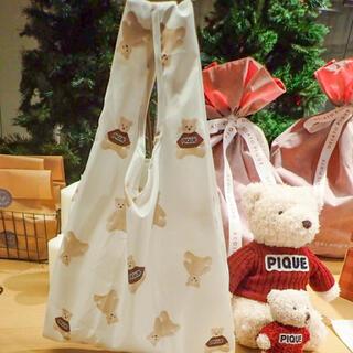ジェラートピケ(gelato pique)のジェラートピケ エコバッグ クリスマス ベアモチーフ エコバック 限定(エコバッグ)