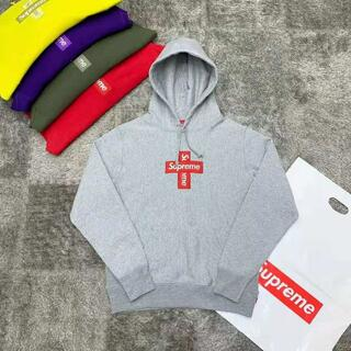 THE NORTH FACE - 人気 Supreme 20FW Cross Box Logo Hooded XL