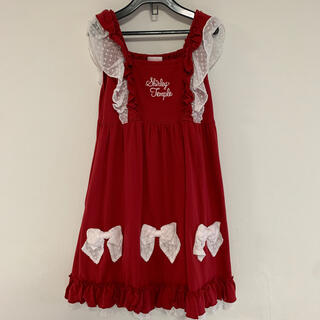 Shirley Temple - シャーリーテンプル リボンジャンパースカート130