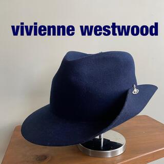 Vivienne Westwood - vivienne westwood  フェルトハット ネイビー ブルー