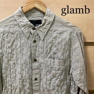 グラム(glamb)の【複数割】グラム glamb 七分丈シャツ グレー Sサイズ 日本製(シャツ)