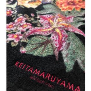 ケイタマルヤマ バスタオル 大輪花柄黒