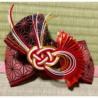麻の葉扇子の髪飾り〜畳縁の髪飾り〜(ヘアアクセサリー)
