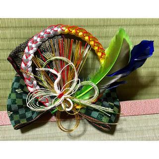 おめでたい!鶴羽の髪飾り〜畳縁の髪飾り〜(ヘアアクセサリー)