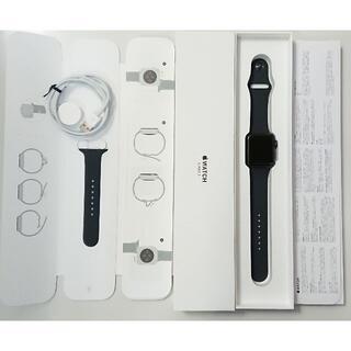アップルウォッチ(Apple Watch)の8251 アップルウォッチ シリーズ3 42mm GPSモデル スペースグレイ(腕時計(デジタル))