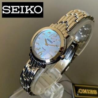 セイコー(SEIKO)の【新品】豪華ダイヤモンド★セイコー SEIKO ソーラー仕様 レディース腕時計(腕時計)