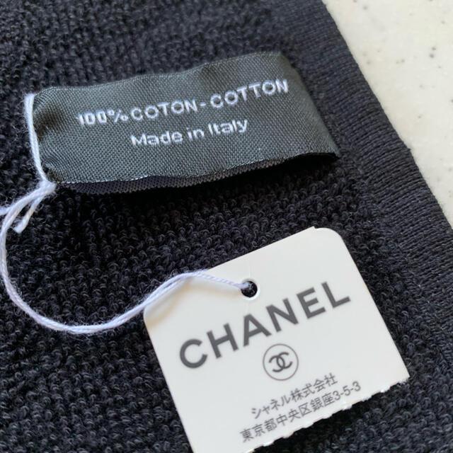 CHANEL(シャネル)のシャネルタオル♡ココマーク ビッグココ ブラック レディースのファッション小物(ハンカチ)の商品写真