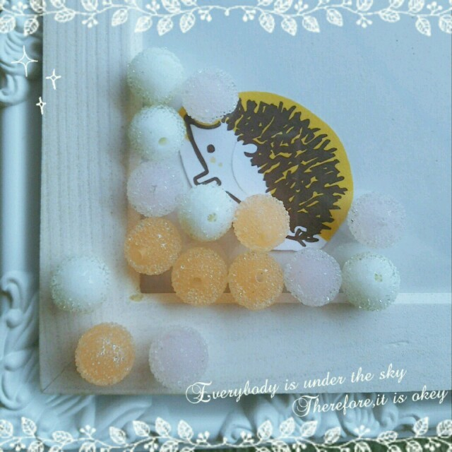(15個)シュガーキャンディ(オレンジ) ハンドメイドの素材/材料(各種パーツ)の商品写真