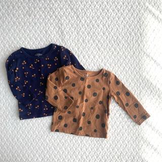 西松屋 - 【美品】ELFINDOLL CLASSIC 長袖Tシャツ  2枚set  80