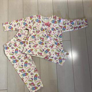 パジャマ ハローキティ 子供服 キッズ 100(パジャマ)