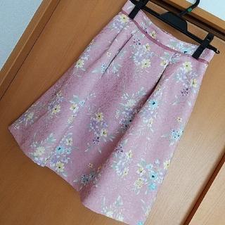 プロポーションボディドレッシング(PROPORTION BODY DRESSING)のプロポ ジャガードスカート ピンク(ひざ丈スカート)