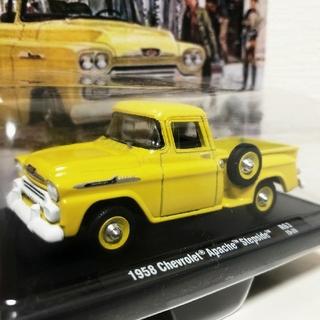 シボレー(Chevrolet)のM2/'58 Chevyシボレー Apacheアパッチ 1/64(ミニカー)