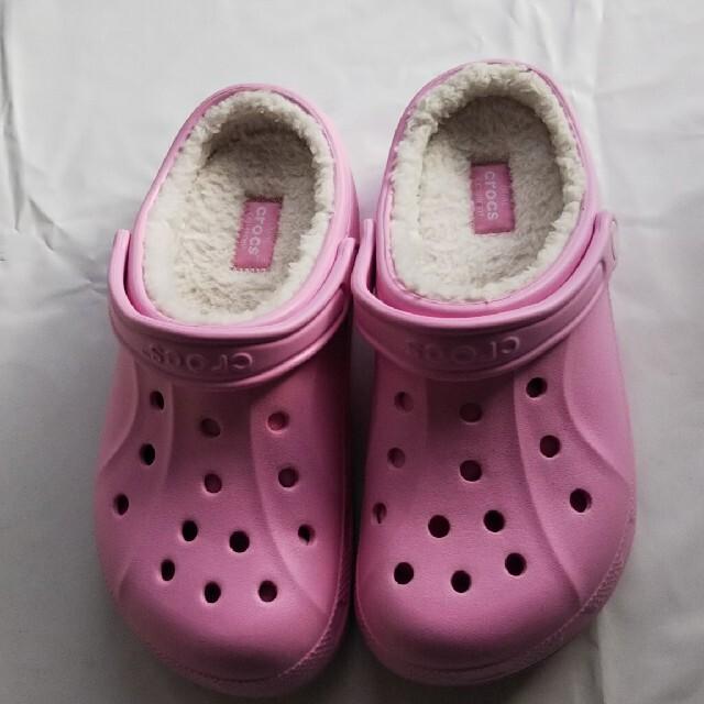 crocs(クロックス)の新品  クロックスボア  薄ピンク  6/8 レディースの靴/シューズ(サンダル)の商品写真