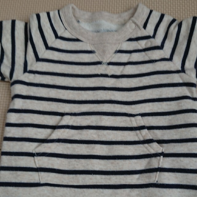 MUJI (無印良品)(ムジルシリョウヒン)のロンパース キッズ/ベビー/マタニティのベビー服(~85cm)(ロンパース)の商品写真