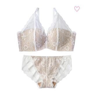 エメフィール(aimer feel)のLace bundle 超盛ブラ(R)ブラジャー&ショーツ ホワイト(ブラ&ショーツセット)