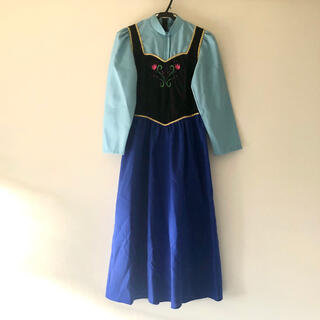 ディズニー(Disney)のアナ雪 キッズ プリンセス エルサ ドレス 長袖ワンピース 140 130(ドレス/フォーマル)