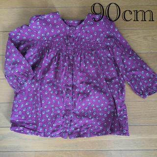 ベネトン(BENETTON)の花柄ブラウス 90cm(Tシャツ/カットソー)