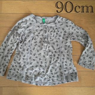 ベネトン(BENETTON)の花柄Tシャツ 90cm(Tシャツ/カットソー)