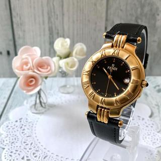 FENDI - 【動作OK】FENDI フェンディ 腕時計 900G メンズ ブラック ゴールド