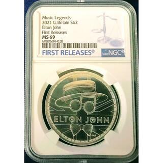 準最高鑑定 2021《 エルトン・ジョン》 ミュージックレジェンズ第二弾 銀貨(貨幣)
