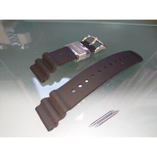 セイコー(SEIKO)の新品 セイコー純正シリコンラバーベルト 銀色金具 バネ棒付き ラグ幅22mm(腕時計(アナログ))