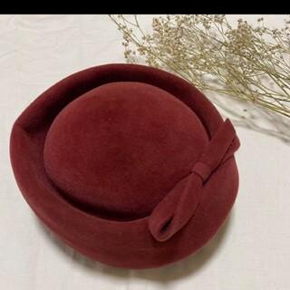 カシラ(CA4LA)のトーク帽 トークハット ベルベット(ハット)