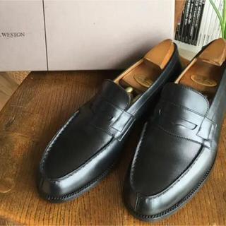 ジェーエムウエストン(J.M. WESTON)のJ.M.WESTON ウェストン 貴重6 A 180ローファー 黒 箱付き(ローファー/革靴)