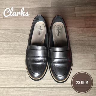 クラークス(Clarks)のClarks クラークス ローファー シルバーグレイ 23cm USED(ローファー/革靴)