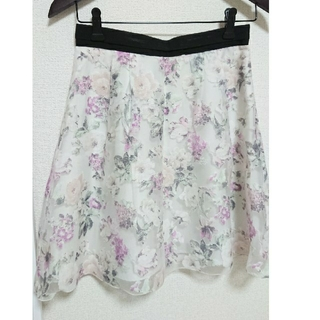 アプワイザーリッシェ(Apuweiser-riche)のアプワイザーリシェ 花柄スカート(ひざ丈スカート)