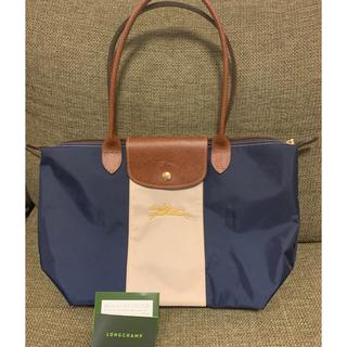 LONGCHAMP - ロンシャン カスタマイズ トートバッグ ロング 美品 刺繍