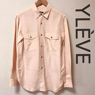 ドゥーズィエムクラス(DEUXIEME CLASSE)の美品 サンプル品 YLÈVE シルク100% オーバーサイズシャツ サイズ1(シャツ/ブラウス(長袖/七分))