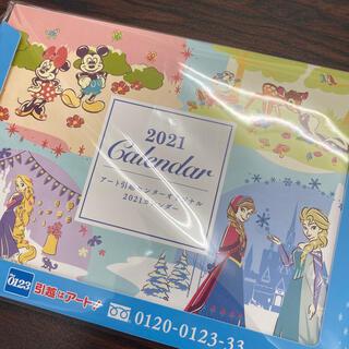 ディズニー(Disney)のディズニー卓上カレンダー2021 アナ雪 ミッキー(カレンダー/スケジュール)