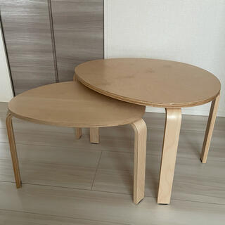 イケア(IKEA)のIKEA イケア SVALSTA テーブル ローテーブル 2点セット(ローテーブル)