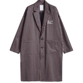 シャリーフ(SHAREEF)のSHAREEF  BLOCK STRIPE LABORATORY COAT(ステンカラーコート)