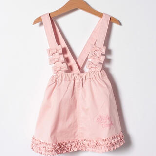 Shirley Temple - リボン使い裾フリルスカート 吊りスカート シャーリーテンプル