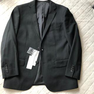 ユニクロ(UNIQLO)のユニクロ ストレッチウールジャケット スリム 黒 M(テーラードジャケット)