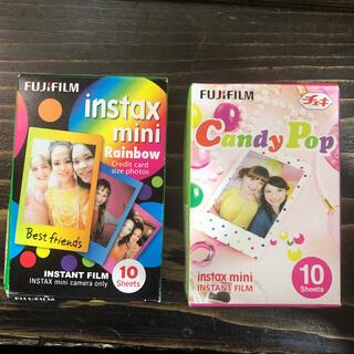 フジフイルム(富士フイルム)の富士フィルム インスタックス ミニ 2箱 キャンディポップ レインボー(フィルムカメラ)