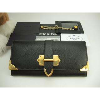 PRADA - プラダ ロングウォレット サフィアーノ 黒 ゴールド金具 2つ折長財布 新品15