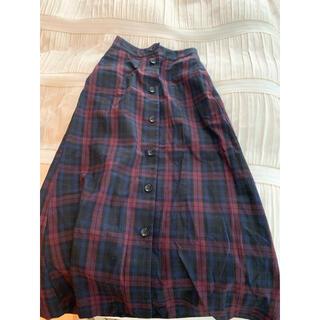 ダブルクローゼット(w closet)のチェックスカート ロングスカート(ロングスカート)