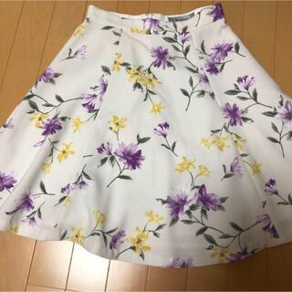 アプワイザーリッシェ(Apuweiser-riche)のRirandture 花柄スカート サイズ2(ひざ丈スカート)