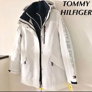 TOMMY HILFIGER - 新品 トミーヒルフィガー パデッドパーカー コート ダウンジャケット 2枚重紺白