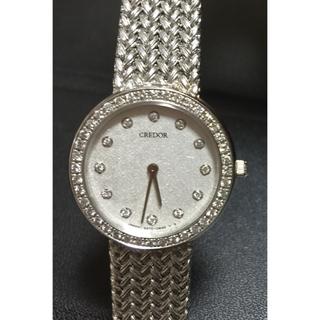 SEIKO - 美品 ♥︎ 銀座和光 購入 クレドール ダイヤモンドベゼル