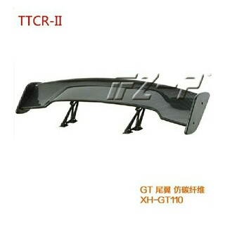 ☆最安値☆ 汎用 カーボン リアスポイラー角度調整可能 GT ウィング (汎用パーツ)