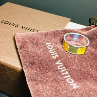LOUIS VUITTON - 【美品 確実正規品】ヴィトン シルバーリング ダミエ 指輪【199Vi5】